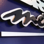 Brushed Metal Signs (2)