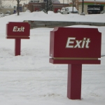 Enter-Exit Signs